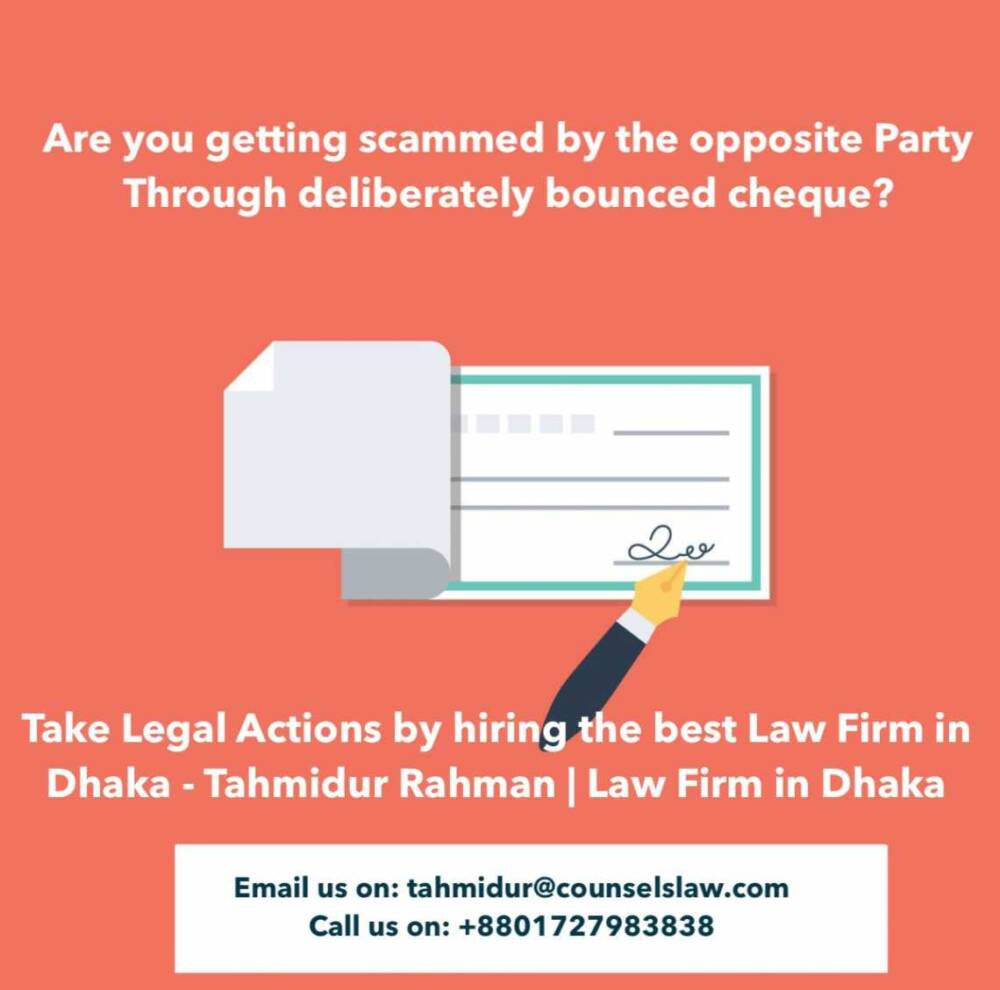 Cheque Dishonoured Law Firm In Bangladesh