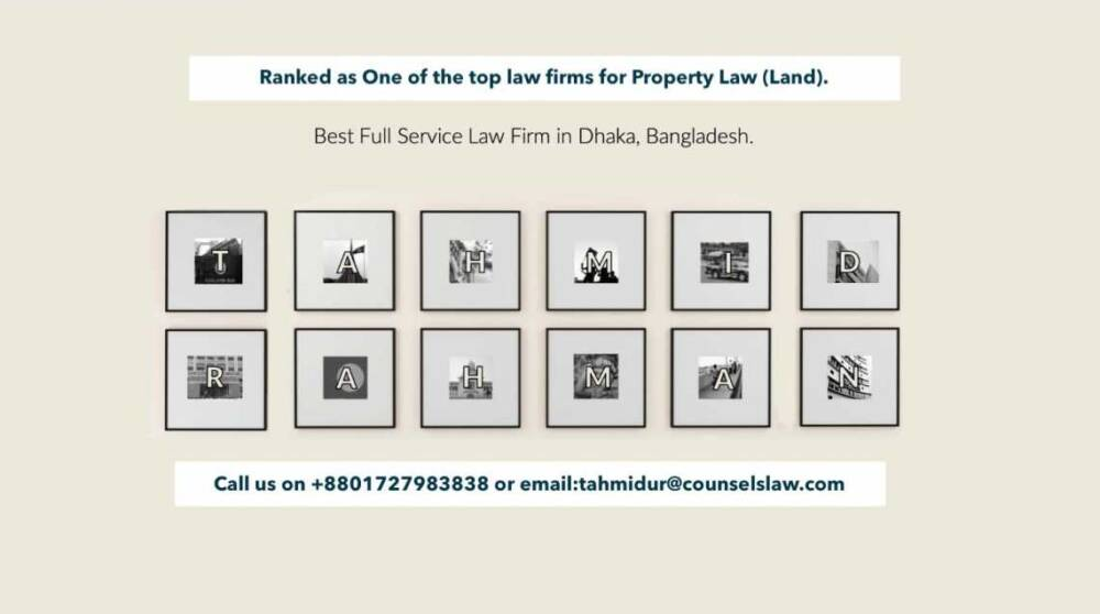 Land Registration Bangladesh Law Firm In Dhaka Tahmidur Rahman