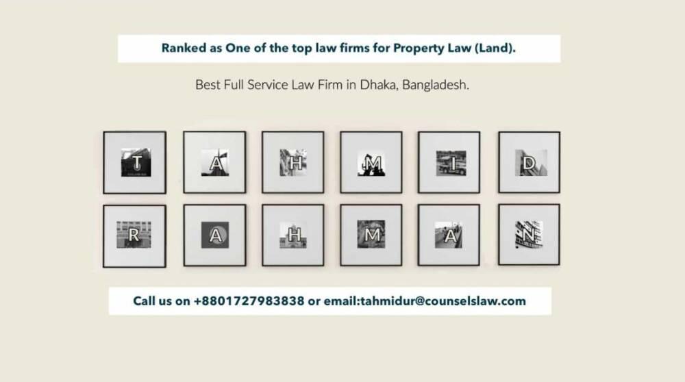 Land Registration Bangladesh Law Firm In Dhaka Tahmidur Rahman