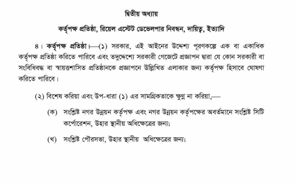 Section 2 Real Estate Law In Bangladesh