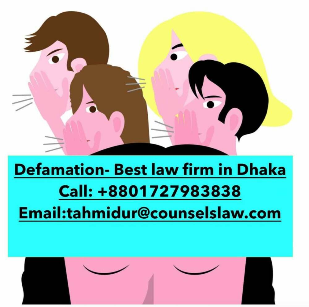 Defamation Law In Bangladesh_Best Law Firm In Dhaka
